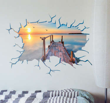 Hole in the Wall Stickers - A personalised vinyl of a hole in your wall that lets you look out to your best memories and favourite views.
