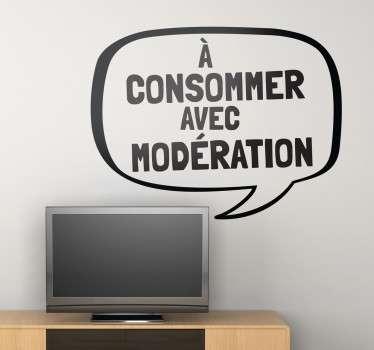 Sticker TV modération