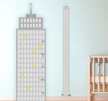 Skyskrapa höjd diagram klistermärke