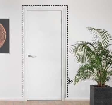Vinilo marco para puerta recortable