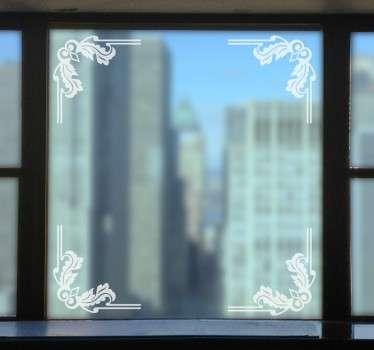 Vinilo ornamental esquinas ventana