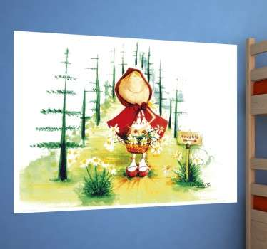 Sticker enfant chaperon rouge