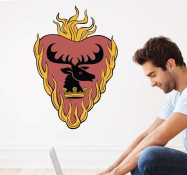 Sticker decorativo Casa Stannis Baratheon