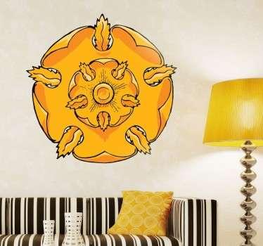 Hazte con el Sticker decorativo de la Casa Tyrell para personalizar todas tus estancias y muestra lo entusiasta que eres de la serie Juego de Tronos