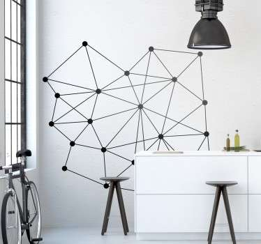 A creative sticker of molecules. Decorate your home with this stylish decal from our modern wall stickers collection.