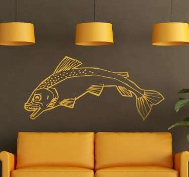 House Tully Sigil Outline Wall Sticker