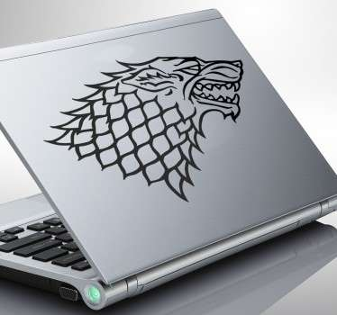 Laptop Stickers-Sigil of House Shark; Illustration inspired by the series Game of Thrones. Discounts available. High quality.