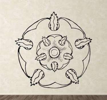 Vinilo decorativo de la Casa Tyrell en línea. Decora tu hogar de un modo más elegante y a la vez original para poder alardear de este magnífico Sticker de la serie Juego de Tronos
