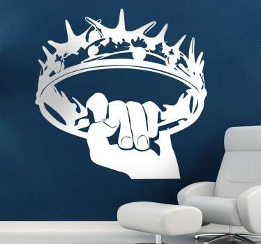 Sticker Game of Thrones couronne