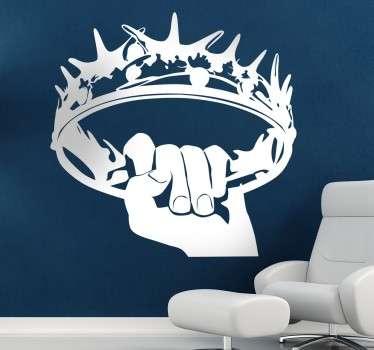 Naklejka koron z Gry o Tron