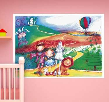 Autocolante parede infantil feiticeiro de Oz