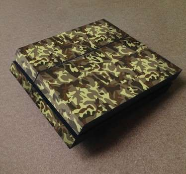 PS4 Skins;Customise your PlayStation 4 console with this high quality decal vinyl. Camouflage themed design. Decorate and protect your PS4