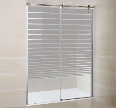 Autocolante decorativo com efeito degrade linear. Friso decorativo ideal para a decoração do duche, de portas e janelos de materiais transparentes.
