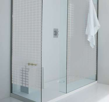 Shower screen stickers - A decorative decal of little squares, perfect for decorating your shower. Give your shower a very unique style with this bathroom decal!