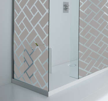 Naklejka na kabinę prysznicową kwadratowy motyw