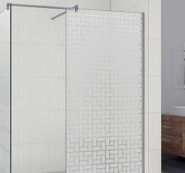 Shower door sticker with a textured square pattern to help you to maintain some privacy in the bathroom.