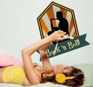 "Rock ""n"" Roll Wall Sticker"