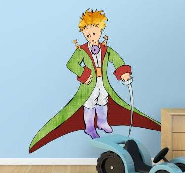 Decorative little prince wall sticker. If you liked this story by Antoine Saint-Exupéry when you were little and you need something to decorate your child's bedroom or nursery.