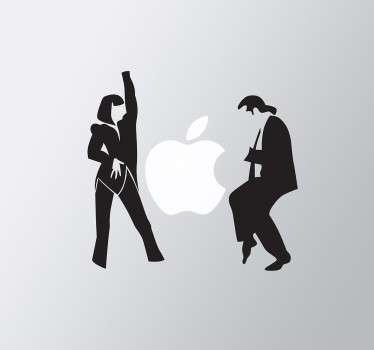 Sticker Laptop Pulp Fiction