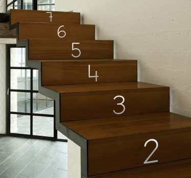 Merdiven adımları numaraları dekoratif çıkartma