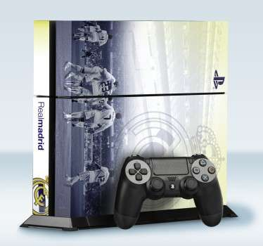 Adhesivo para PS4 Real Madrid