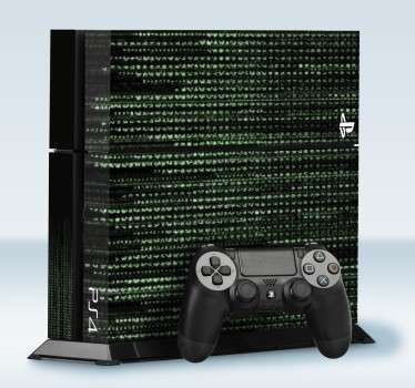 Adhesivo playstation código matrix