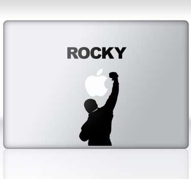 Adhesivo silueta Rocky para portátil