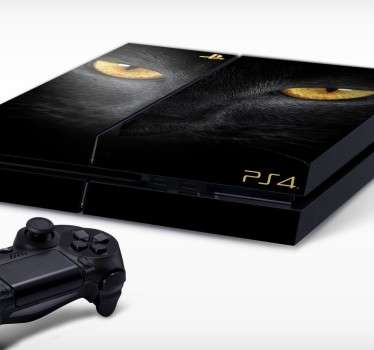 PS4 Skins; Customise your PlayStation 4 console with this high quality decal vinyl. Striking design of the face of a black feline.