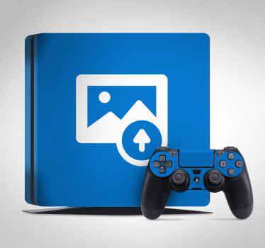 Autocolante decorativo cobertura personalizada PS4