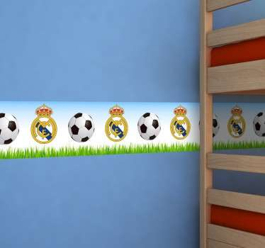 Vinil decorativo cenefa Real Madrid