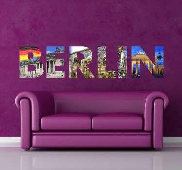 Vinilo decorativo foto texto Berlín
