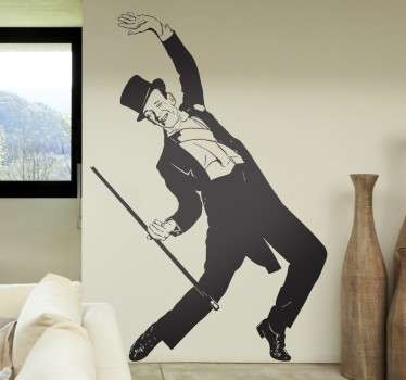 Fred Astaire muursticker