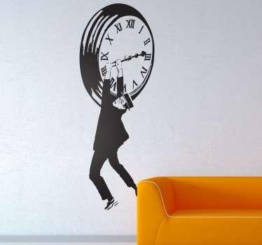 Vinilo decorativo Harold Lloyd reloj