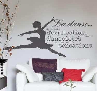 Votre vie tourne autour de la danse et des sensations que vous procure la scène ?