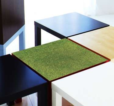 Decals - Decorate plain and dull furniture with this grass texture decal. Ideal for customising IKEA furniture. LACK series.