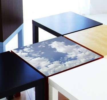 Decals - Decorate plain and dull furniture with this cloudy blue sky decal from our collection of cloud wall stickers.