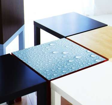 Decals - Decorate plain and dull furniture with this light blue rain drops decal. Ideal for customising IKEA furniture. LACK series.