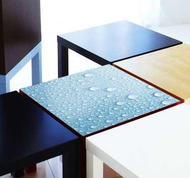 Autocolante para mesa gotas de água