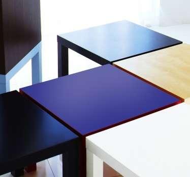 Autocolante decorativo cor lisa para mesa