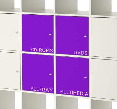 Sticker placard Kallax texte personnalisé