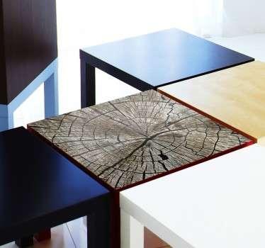 Tischaufkleber Holzoptik IKEA