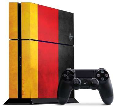 PS4 Skins; Customise your PlayStation 4 console with this high quality decal vinyl. German flag design. Decorate and protect your PS4