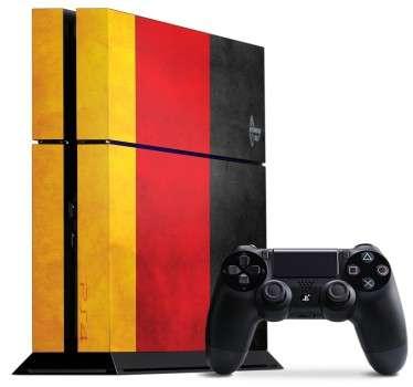 Skin ps4; personalizza la tua console playstation 4 con questo vinile adesivo di alta qualità. Disegno della bandiera tedesca. Decora e proteggi la tua ps4