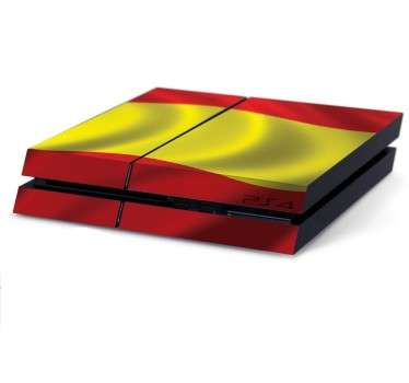 High quality vinyl PS4 sticker of the Spanish flag in the wind. Decorate and protect your console with the vibrant national colours of Spain.
