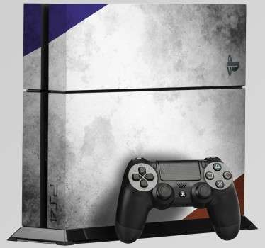 Sticker PS4 Drapeau France