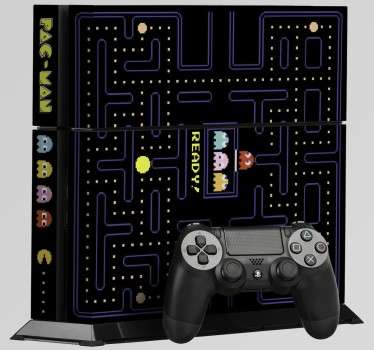 Naklejka na PS4 Pacman