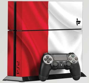 PS4 Skins; Customise your PlayStation 4 console with this high quality decal vinyl. Polish flag design. Decorate and protect your PS4