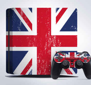 PS4 Skins-Great Britain;- Customise your PlayStation 4 console with this high quality decal vinyl. British flag design.