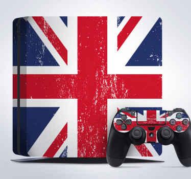 Naklejka na PS4 flaga Wielkiej Brytanii