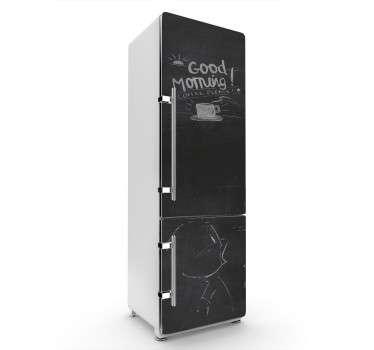 完全な黒板の冷蔵庫デカール